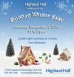 Poster for the Highland Hall Winter Faire