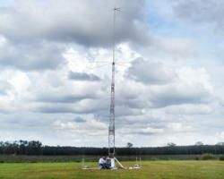 TGR-50EHD portable AM broadcast antenna in field deployment