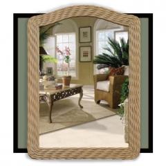 Chasco Designs Wicker Mirror