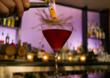 Flaming Boulevardier at the Driftwood Room at Hotel deLuxe