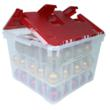 image of Wing-Lid Christmas Ornament Storage Box with Dividers