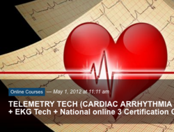 EKG Telemetry online certification