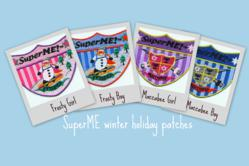 SuperME holiday patches