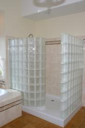 Glass Block Shower Enclosure