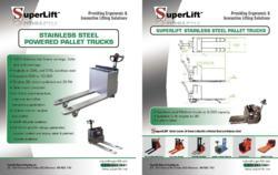 stainless steel powered pallet trucks