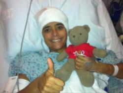 Malia in hospital bed