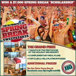 Win a $7,000 Spring Break Stay from SpringBreakHQ.com