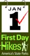 America's State Parks First Day Hikes Logo.