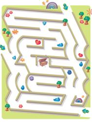 A Maze Leading to Treasure Chest