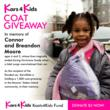 Connor and Breandon Moore Koats4Kids Coat Distribution