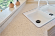 The same countertop after being refinished by Miracle Method in a Natural Accents® stone look finish