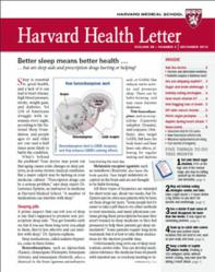Cover of the December 2012 Harvard Health Letter