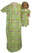 Hello Kitty Print Matching Nightgowns for Girls and Dolls