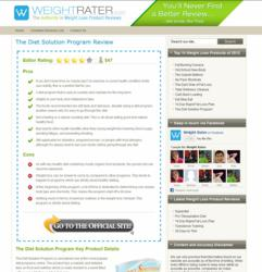 Weight Rater's simple and clean product review design