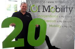 20th 101 Mobility Franchisee, Keith Kregel of Knoxville, TN