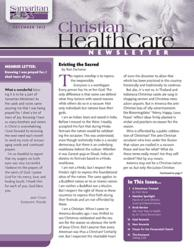 Cover of December 2012 newsletter