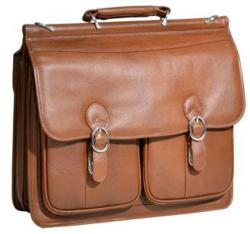 McKlein Hazel Crest Leather Briefecase $159.80