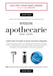 Apothecarie New York offers premium skin care products and skin treatments