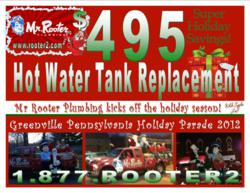 hot water tank ad mr rooter