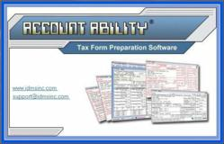 Account Ability prepares 1099 and W-2 forms quickly and easily