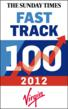 Picture shows the 2012 Fast Track 100 logo. Scottish electronics recycler, Redeem is in 41st place.