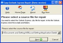 Easy Outlook Express Repair