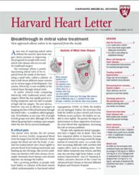 Cover of the December 2012 Harvard Heart Letter