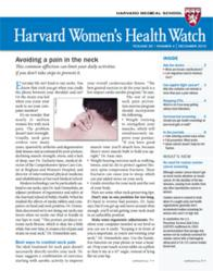 Cover of the December 2012 Harvard Women's Health Watch