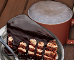 Chocolate Cake and Cup of CocoaJoe