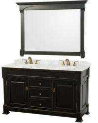 Andover Eco Friendly Traditional Doube Bathroom Vanity From The Wyndham Collection