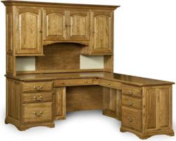 An inspired design marks the Mannington L-Desk with Hutch.