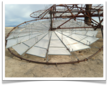 Each SOLCO Solar Lens Array Consists of 34 Lenses, with Four Circular Arrays per Solar Tower.