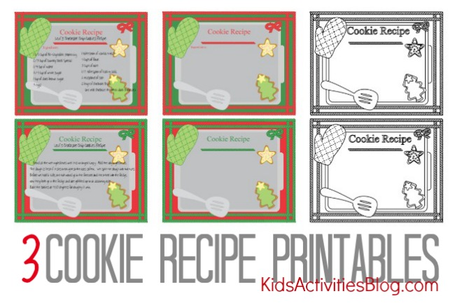 Printable Recipe Cardprintable Card Homemade Gifts