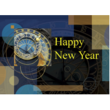 Happy New Year card with Clock Tower