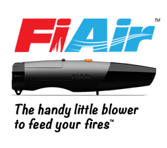 FiAir handy blower to feed wood and charcoal fires
