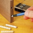 "Use the 1/8"" dropper tip to dispense the perfect amount of glue into dowel holes, mortises, or onto small moldings, all with minimal squeeze-out."