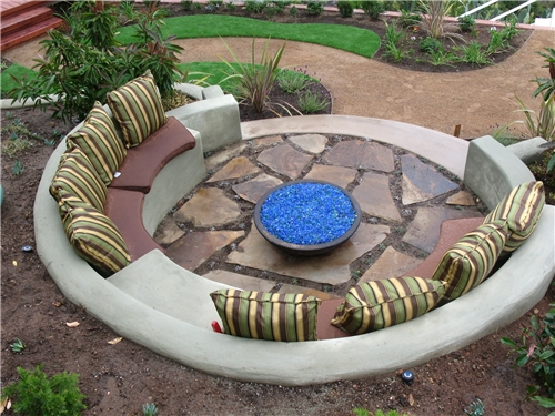 Backyard Landscaping Ideas San Diego san diego drought tolerant landscape contemporary landscape San Diego Landscaping Style Features An Outdoor Fire Pit And Seating Area Photo Promised Path Landscape Inc