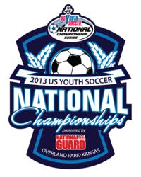 Official Logo for 2013 US Youth Soccer National Championships presented by National Guard