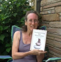 Amy Allen with copy of Summoning the Mountains