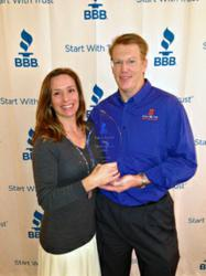Scott Smeltzer and Sharon Smeltzer Accept BBB Torch Award
