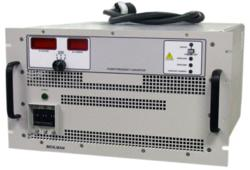 The 5000 VA Behlman FC5003 COTS Power Supply converts three phase 120/208 VAC power into three-phase 115/200 VAC, 400 Hz IAW MIL-STD-704.