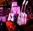 A few stage guitars...