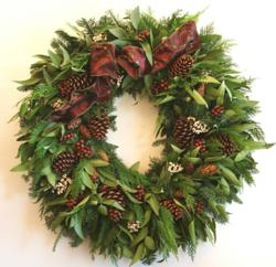 Berry Elegance Wreath, a holiday wreath handcrafted by Creekside Farms