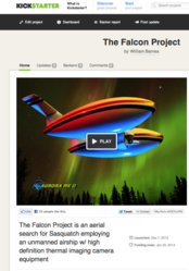 Falcon Project Kickstarter To Find Sasquatch