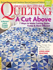 Cover quilt cut with AccuQuilt GO! Fabric Cutter and Winding Ways die.