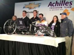 Reveal of the new GM sponsored hand-crank cycle for wounded warriors Achilles Freedom Team