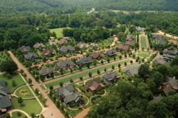 Cottages at Barnsley Gardens Resort are reminiscent of a quaint English country village