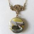 Spectacular Crane Locket