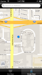 MapChoice makes it easy to compare Google Maps and Apple Maps.