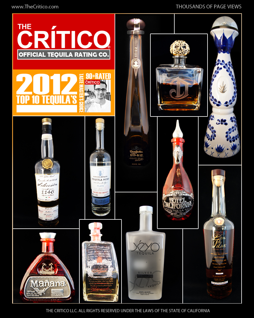 top 10 tequilas of 2012 are announced by the critico